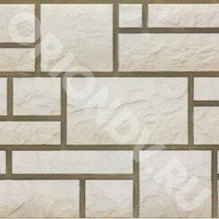 Заказать онлайн фасадную панель Сайдинг DOCKE BURG (песчаник) белый с доставкой по России недорого