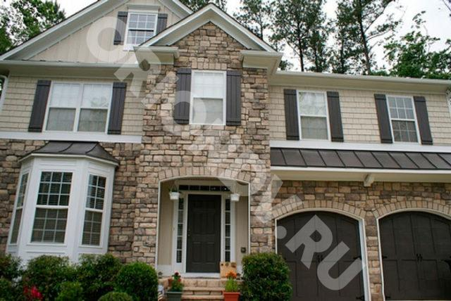 Купить фасадные панели с утеплителем для наружной отделки дома в английский стиль